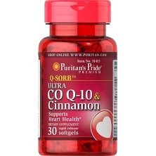 Puritan's Pride Q-SORB™ Ultra Co Q-10 200 mg & Cinnamon 1000 mg, 30 Softgels