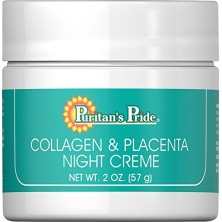 Puritan's Pride Natural Collagen and Placenta Night Crème, 57gr