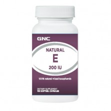 GNC Intel Natural Vit E 200IU 100 caps