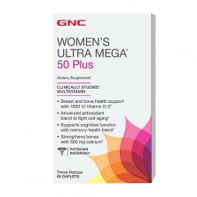 GNC Womens Ultra Mega 50 Plus 60 caps