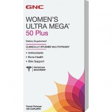 GNC Womens Ultra Mega 50 Plus  120 caps