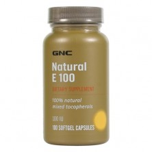 GNC Intel Natural Vit E 100IU 100 caps