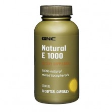 GNC Intel Vit E 1000 Natural 60 caps