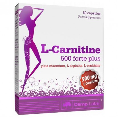 Л-Карнитин (L-Сarnitine)  L-Carnitine 500 forte plus 60 caps Olimp  фото