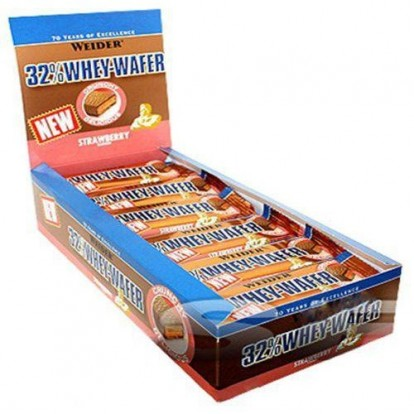 Протеины Weider 32% Whey Wafer Bar 24*35 g фото