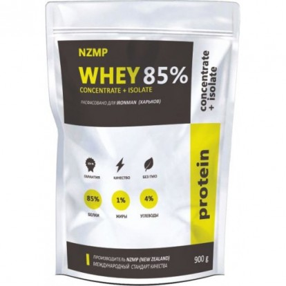 Протеины NZMP Whey Concentrate+Isolate 85% 900g фото