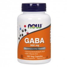 Gaba 500 mg 100 caps NOW