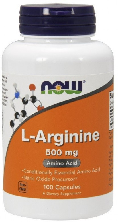 Аминокислоты L-Arginine 500 mg 100 caps NOW фото