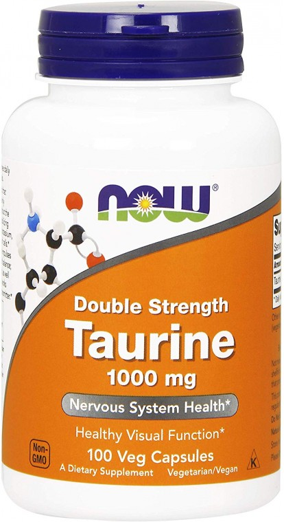 Аминокислоты Taurine 1000 mg 100 caps NOW фото