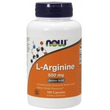 L-Arginine 500 mg 100 caps NOW
