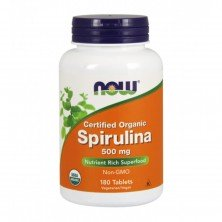 Spirulina 500 mg 180 tablets Now foods