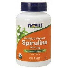 Spirulina 500 mg 200 tablets Now foods