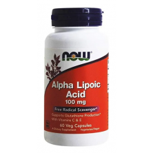 Alpha Lipoic Acid 100 mg 60 veg capsules NOW