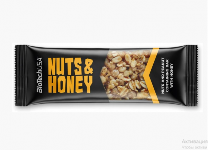Батончики   Nuts and Honey 35 g Biotech в Украине фото