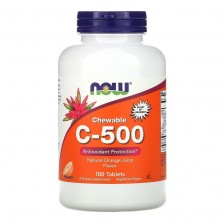 C-500 Chewable Апельсин 100 tablets Now Foods