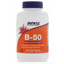 B-50 Now Foods 250 veg capsules