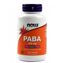 PABA 500 mg 100 capsules NOW