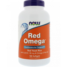 Red Omega 180 softgels NOW