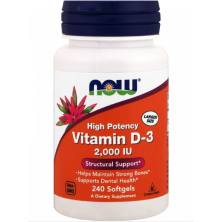 Vitamin D-3 2000 IU 240 caps NOW Foods