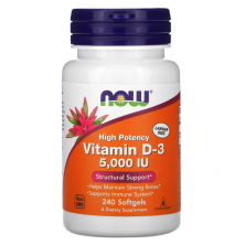 Vitamin D-3 5000 IU 240 caps NOW Foods