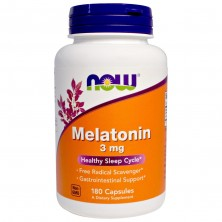 Melatonin 3mg 180 паст NOW