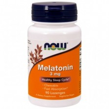 Melatonin 3mg 90 паст NOW