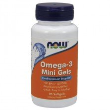 Omega-3 Mini Gels 500 mg 90 caps NOW