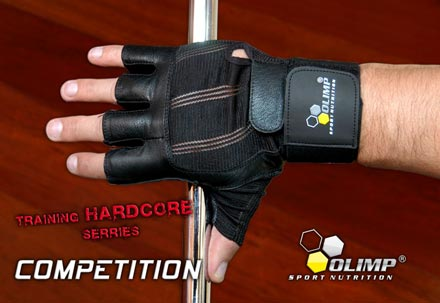 OLIMP TRAINING GLOVES HARDCORE COMPETITION WRIST WRAP фото состав
