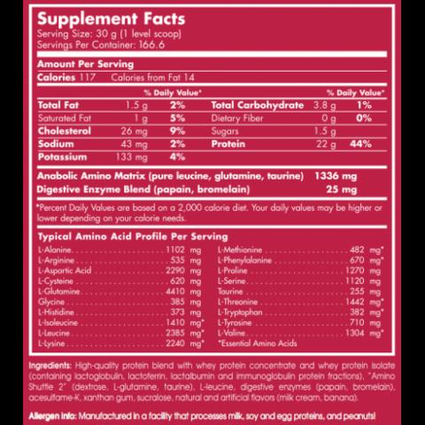 Scitec Nutrition 100% Whey Professional (2,35Kg) состав фото