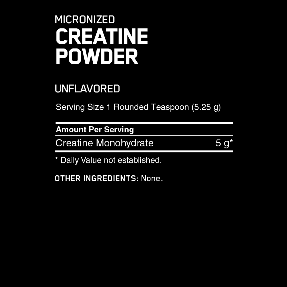 Creatine Powder (Creapure) 600 g Optimum Nutrition фото состав